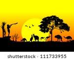 australia silhouette | Shutterstock .eps vector #111733955