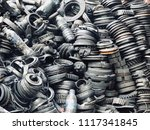 scrap car and machinery parts....   Shutterstock . vector #1117341845