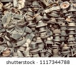 scrap car and machinery parts....   Shutterstock . vector #1117344788