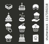 cake birthday vector icon....   Shutterstock .eps vector #1117350218