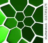 green pattern 3d illustration | Shutterstock . vector #1117351175