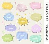 set of colorful speech bubbles  ...   Shutterstock .eps vector #1117351415