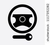 steering lock warning icon | Shutterstock . vector #1117352282