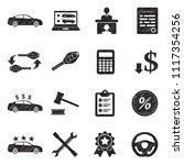 car dealer icons. black... | Shutterstock .eps vector #1117354256