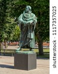 luther monument at berlin ... | Shutterstock . vector #1117357025