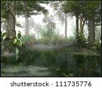 misty swamp | Shutterstock . vector #111735776