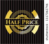 half price shiny badge | Shutterstock .eps vector #1117362746