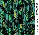 seamless exotic pattern with... | Shutterstock .eps vector #1117366232