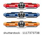 sport scoreboard with time and... | Shutterstock .eps vector #1117373738