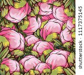 peonies illustration  pion... | Shutterstock . vector #1117375145