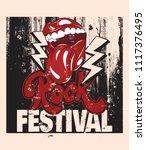 rock festival. vector hand... | Shutterstock .eps vector #1117376495