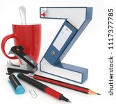 """z"" 3d letter with office stuff ... 