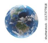 world globe earth 3d rendering. ... | Shutterstock . vector #1117377818