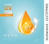 sun block or uv protection and... | Shutterstock .eps vector #1117379402