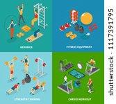 fitness isometric design... | Shutterstock .eps vector #1117391795