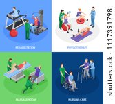 physiotherapy rehabilitation 4... | Shutterstock .eps vector #1117391798