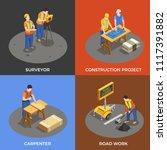 builders isometric design... | Shutterstock .eps vector #1117391882