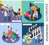 advertising agency personnel... | Shutterstock .eps vector #1117391915
