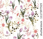 Flower Vector Pattern With...