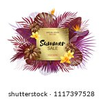 summer sale background with... | Shutterstock .eps vector #1117397528