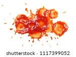 ketchup spreading  splashes...   Shutterstock . vector #1117399052