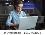 portrait of a young man with a...   Shutterstock . vector #1117403036