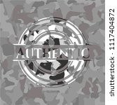 authentic on grey camouflage...   Shutterstock .eps vector #1117404872