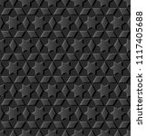 3d dark paper art islamic...   Shutterstock .eps vector #1117405688