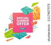 abstract banner design for... | Shutterstock .eps vector #1117407575