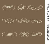 hand drawn decorative curls and ... | Shutterstock .eps vector #1117417418