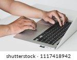 business working in room...   Shutterstock . vector #1117418942
