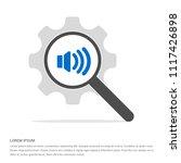 sound volume icon   free vector ... | Shutterstock .eps vector #1117426898
