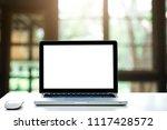 empty space white computer...   Shutterstock . vector #1117428572