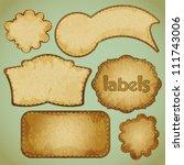 retro labels set   vector... | Shutterstock .eps vector #111743006