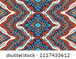 ikat seamless pattern. vector... | Shutterstock .eps vector #1117433612