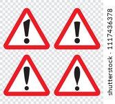 danger sign  warning sign ...   Shutterstock .eps vector #1117436378