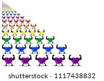 colorful healthy hearts... | Shutterstock .eps vector #1117438832