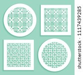 templates for laser cutting ... | Shutterstock .eps vector #1117439285