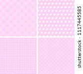 cute and chic pink patterns.... | Shutterstock .eps vector #1117445585