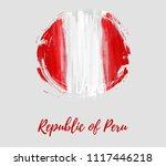republic of peru background.... | Shutterstock .eps vector #1117446218