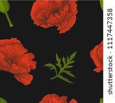 floral seamless pattern of...   Shutterstock .eps vector #1117447358