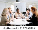 group of business people... | Shutterstock . vector #1117454045