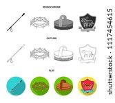 aviary  whip  emblem ... | Shutterstock .eps vector #1117454615