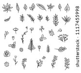 big set of hand drawn vector... | Shutterstock .eps vector #1117455998