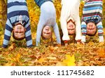 kids group upside down in an... | Shutterstock . vector #111745682
