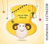 eid ul adha  islamic festival... | Shutterstock .eps vector #1117462238