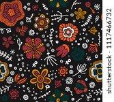 cute floral pattern. summer... | Shutterstock .eps vector #1117466732