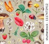 summer seamless pattern.... | Shutterstock . vector #1117472912