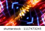 gold glitter lights background  ... | Shutterstock . vector #1117473245