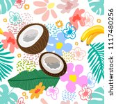seamless botanical pattern with ... | Shutterstock .eps vector #1117480256